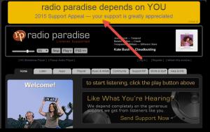 Radio Paradise Donation Page